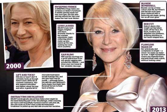 Helen Mirren Plastic Surgery Procedures