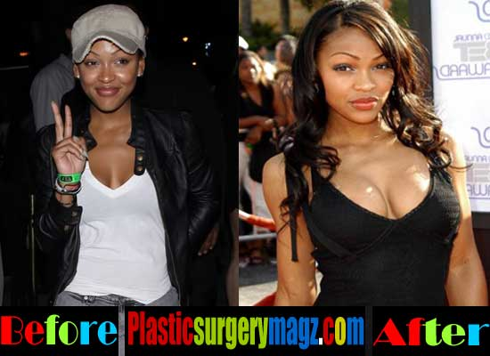 Meagan Good Breast Implant Before and After
