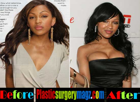Meagan Good Breast Implants Before and After Pictures