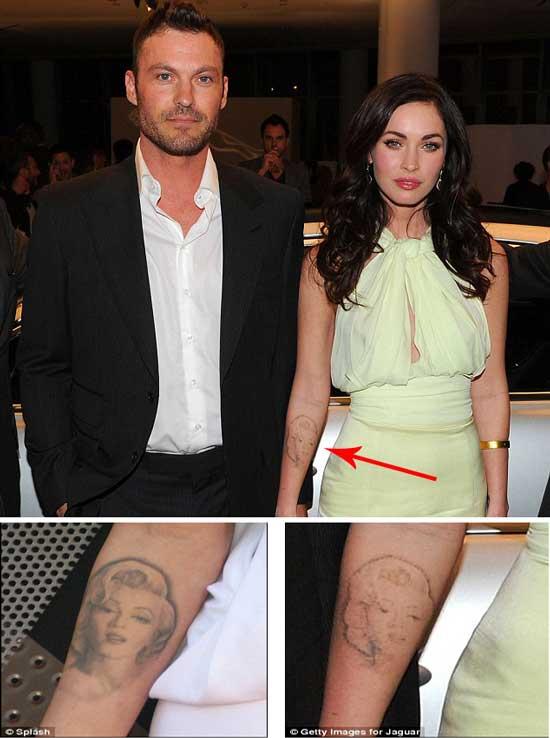 Megan Fox Tattoos Removed