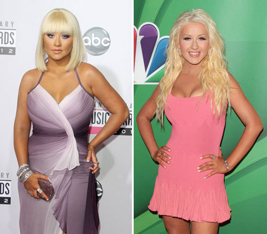 Christina Aguilera Weight Loss Before and After