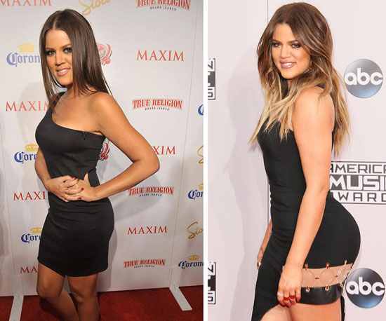 Khloe Kardashian Butt Implants Then and Now