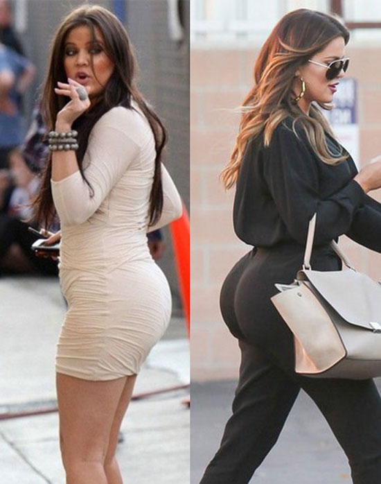 Khloe Kardashian Butt Then and Now