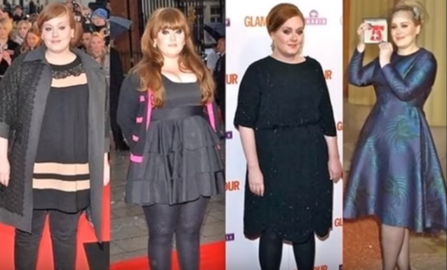Adele Weight Loss Now and Then